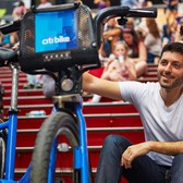 NYC Man Riding Citi Bike Cross Country