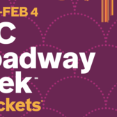 NYC Broadway Week Winter 2018, January 16th — February 4th
