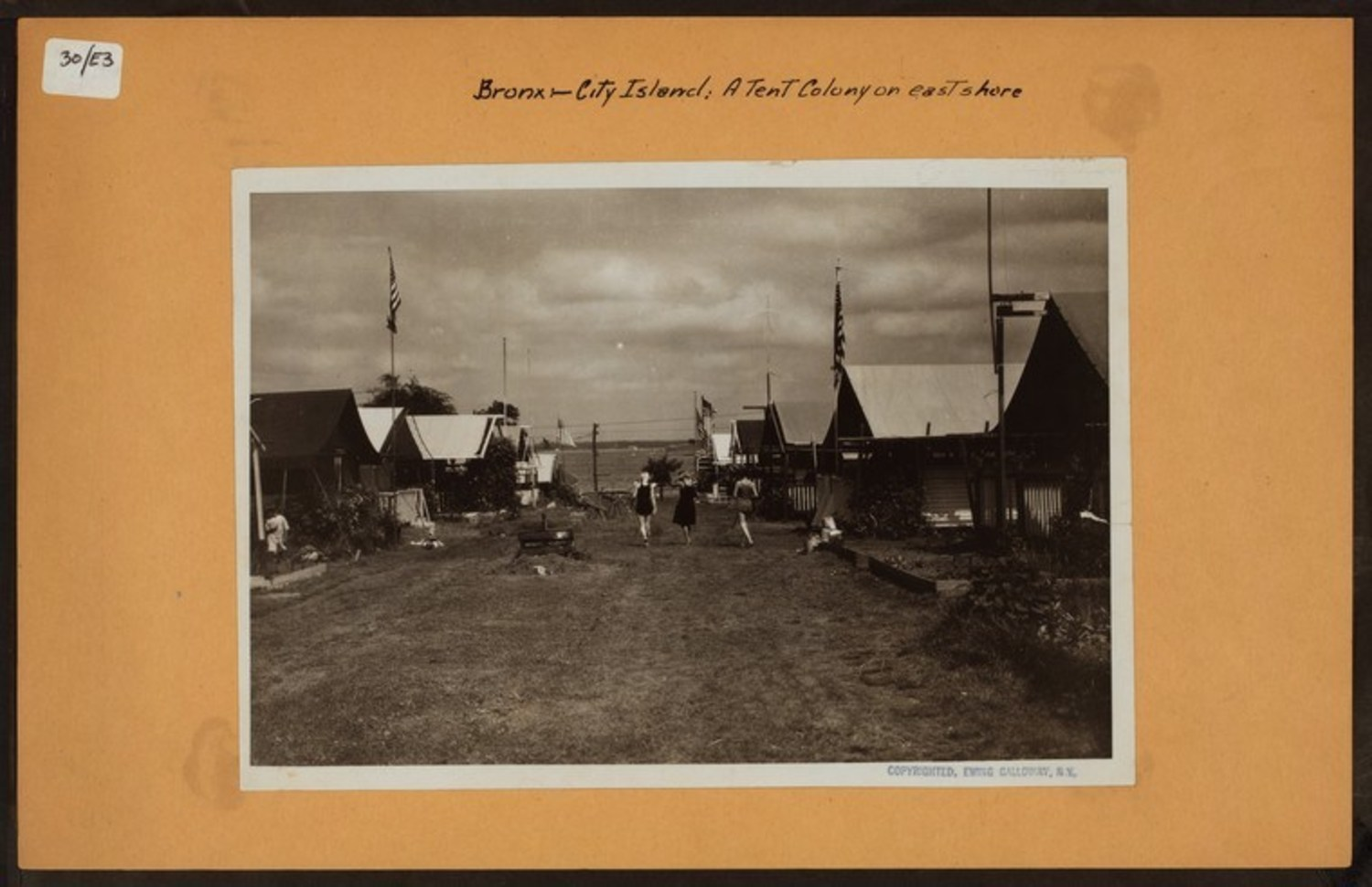 Bronx: City Island : a tent colony on east shore.