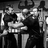 "Arnold Classic 2015 - Arm Wrestling 1 | Olympus 40-150/2.8 PRO Lightroom 5.7 / OnOne Perfect B&W 9  <a href=""http://www.bestlightphoto.net"" rel=""nofollow"">Website</a> 