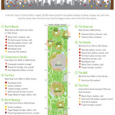 Central Park Fall Foliage Map