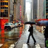 6th Avenue, Midtown. Photo via @qwqw7575 #viewingnyc #newyork #newyorkcity #nyc #rain
