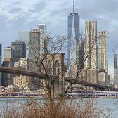 Brooklyn Bridge and Lower Manhattan Skyline, New York