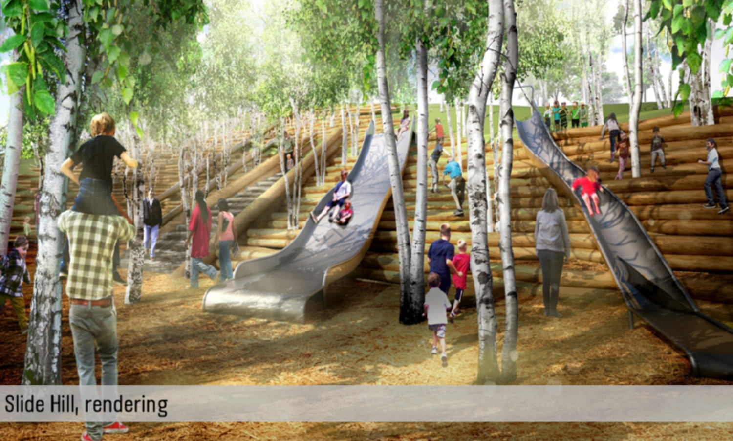 Rendering of Slide Hill