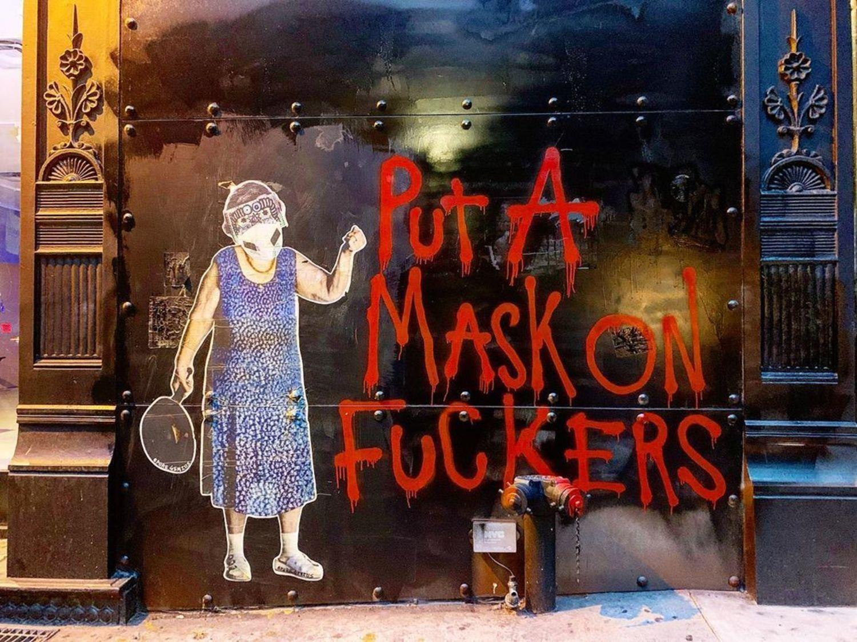 Coronavirus Street Art, Soho, Manhattan
