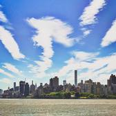 """Awesome clouds and an awesome view today from Randall's Island"""