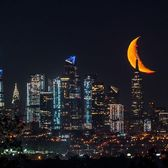 Moonrise over Manhattan