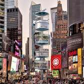 100architects Propose a Vertical Park Made of Stacked Glass Pods for Times Square