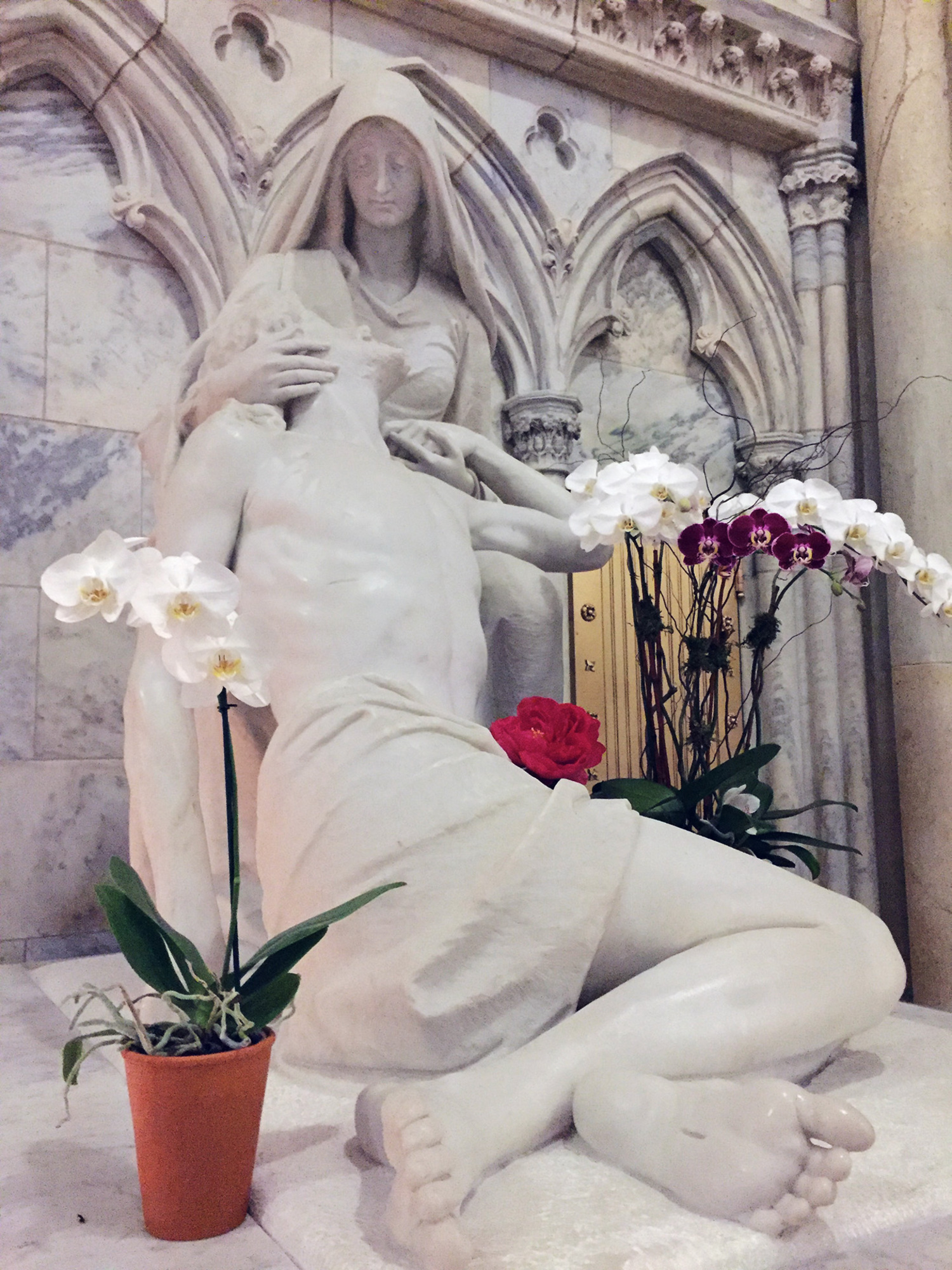 St. Patrick's Cathedral Restored Marble Sculptures