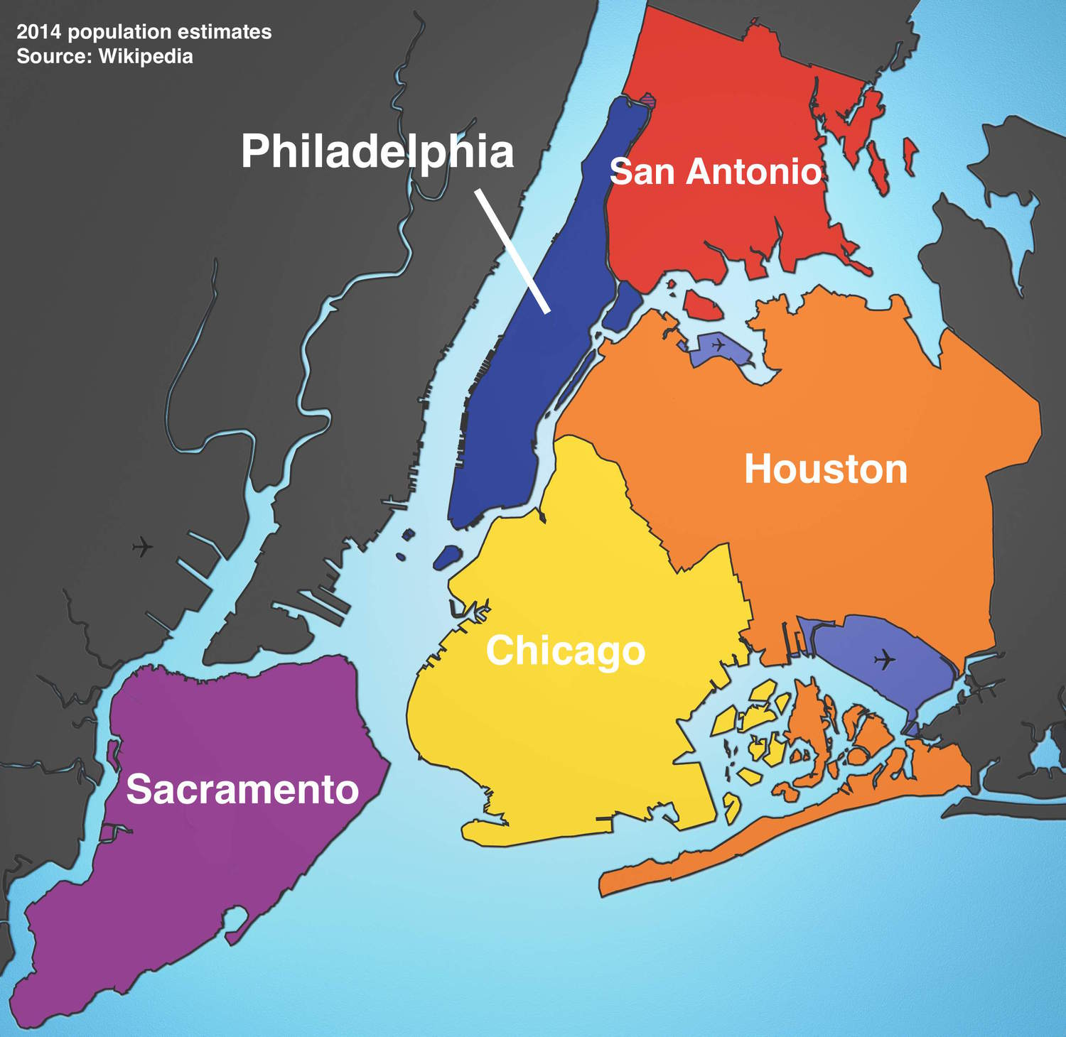 Maps Show What Major US Cities Can Fit Inside NYC Boroughs