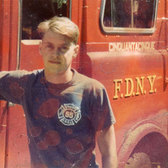 Steve Buscemi during his stint as a New York City Firefighter. Engine 55 – Little Italy, NYC, 1981