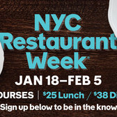NYC Restaurant Week 2016