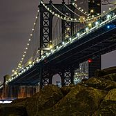 Manhattan Bridge from Brooklyn Bridge Park, DUMBO, Brooklyn