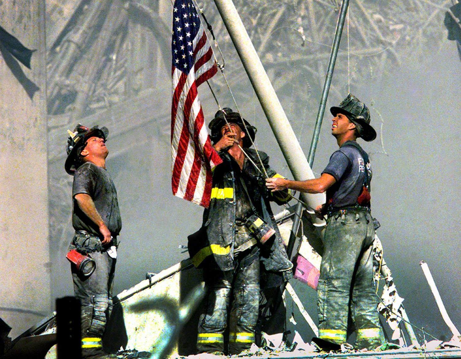 Missing 9/11 flag returns to Ground Zero site after 15 years