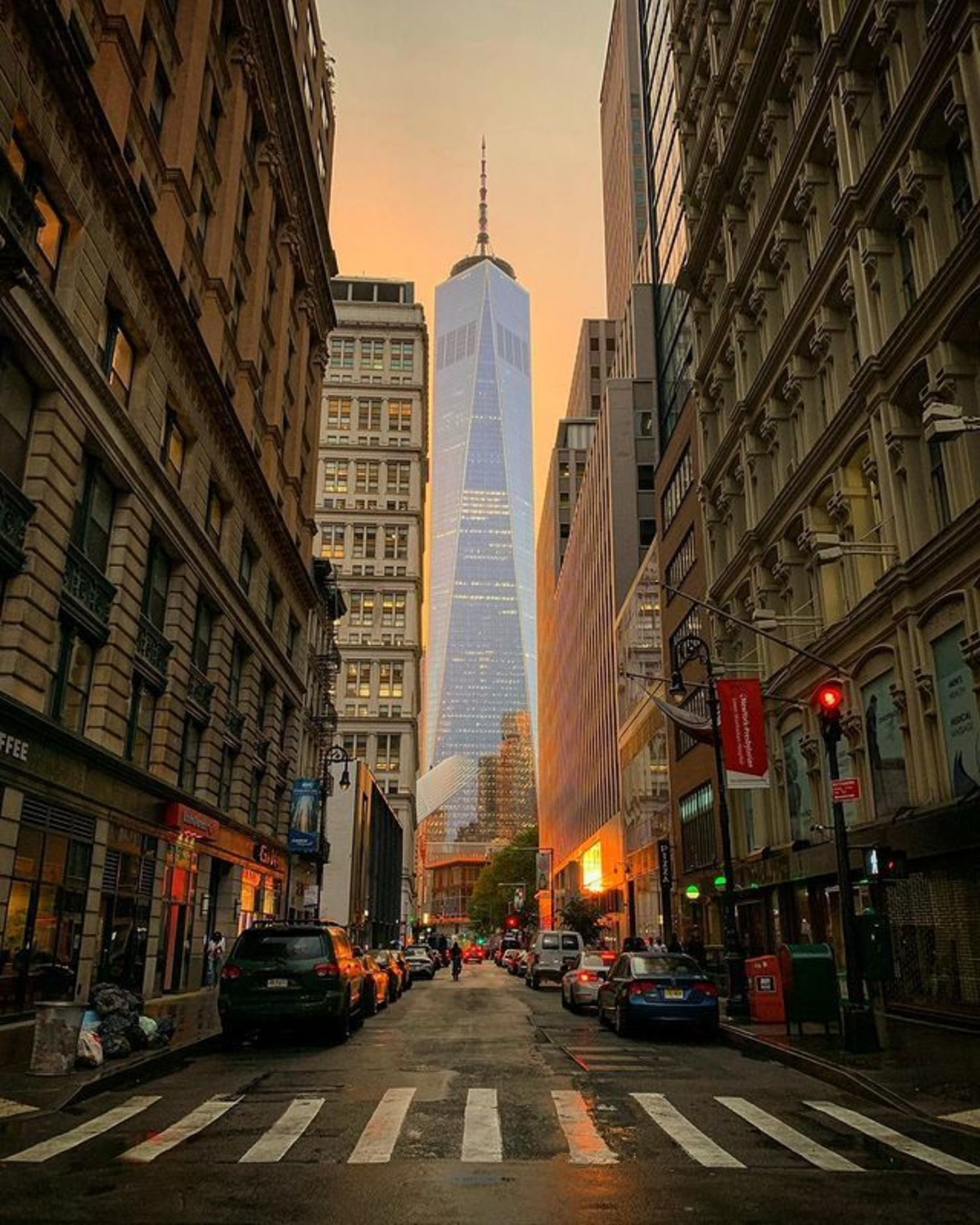 Fulton Street and One World Trade Center, Financial District, Manhattan