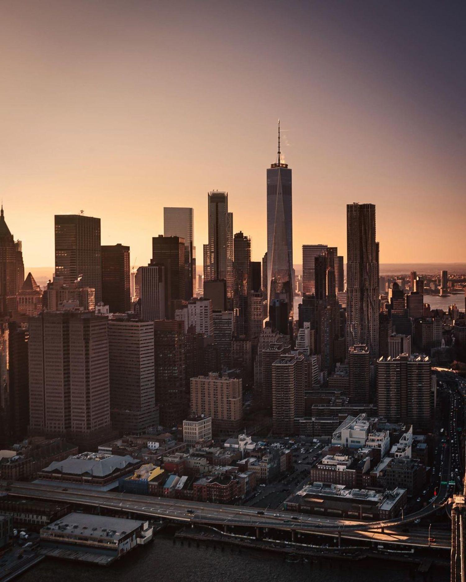 Sunset over Lower Manhattan
