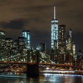 Brooklyn Bridge and Lower Manhattan from BRooklyn Bridge Parkk