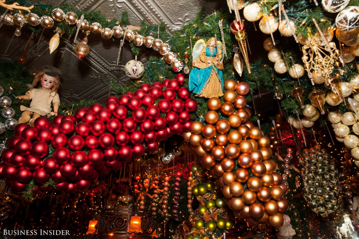About 15,000 ornaments are hung from the ceiling. | Viewing NYC