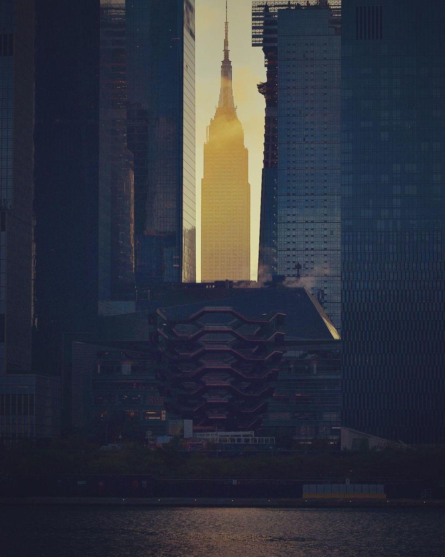 Sunrise over Hudson Yards, Manhattan
