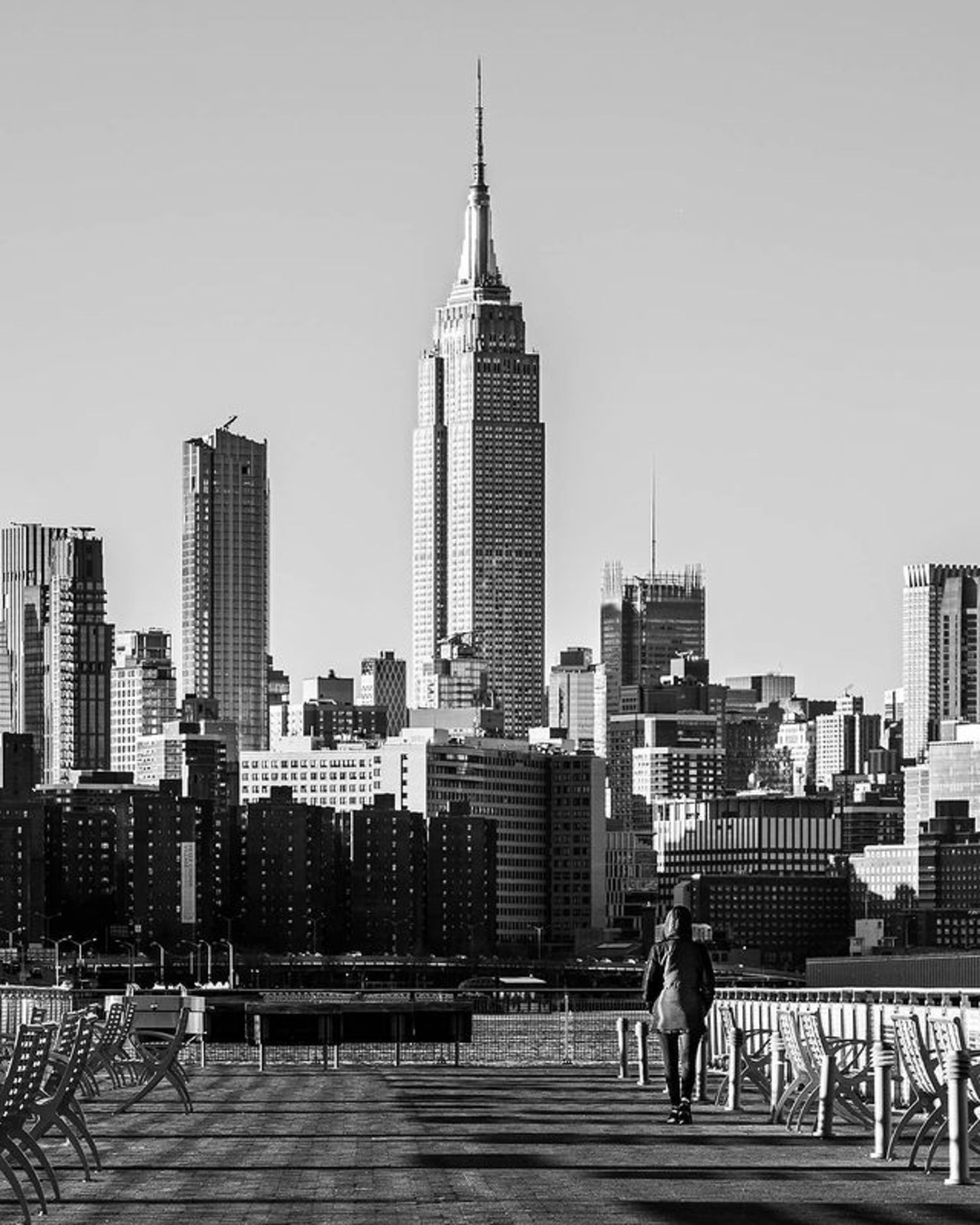 Empire State Building from Williamsburg, Brooklyn