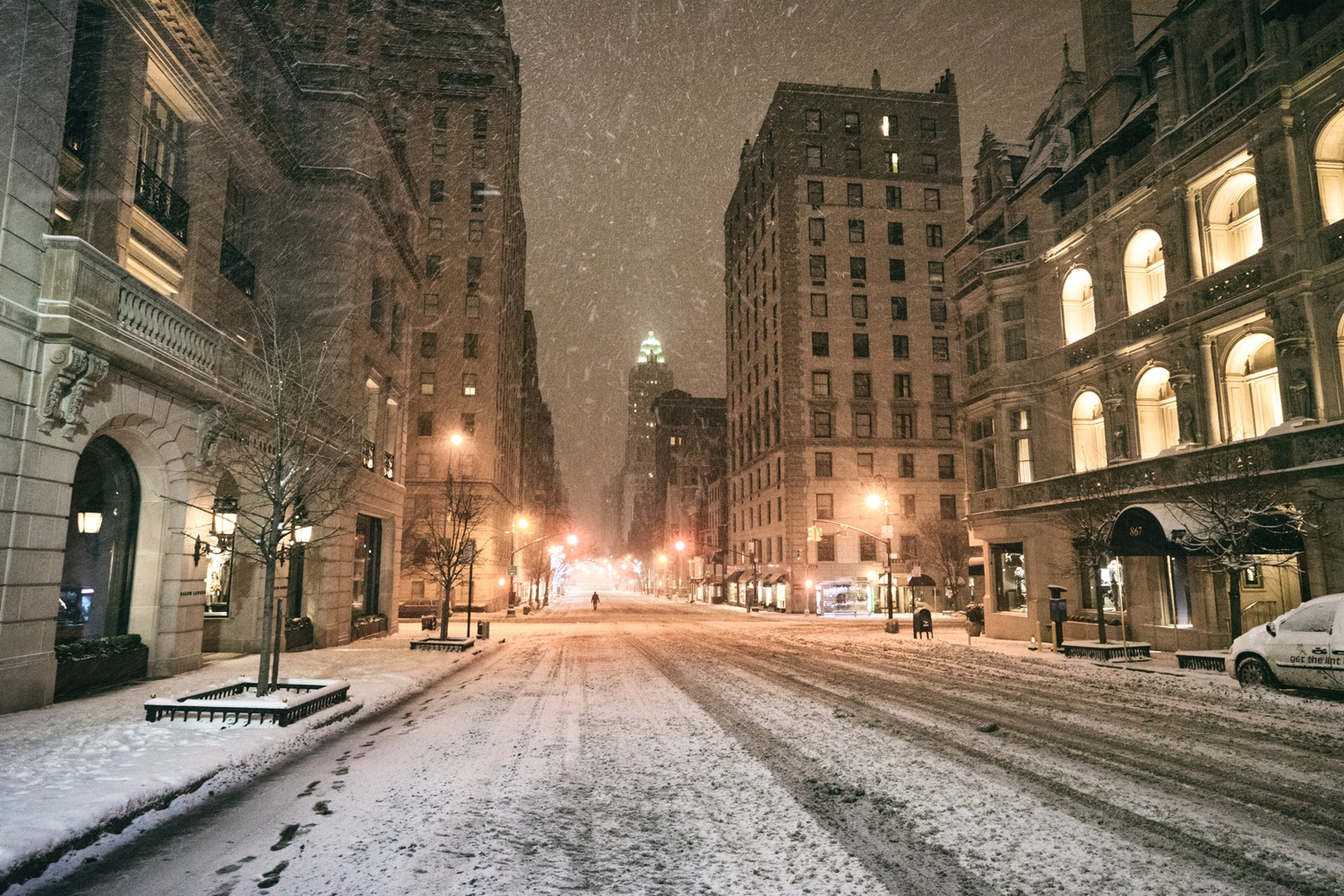 "New York City - Snow - Winter Storm Juno - Madison Avenue Empt | Juno: The first snowstorm of 2015 in New York City.  ---  (Note: My <a href=""http://www.amazon.com/gp/product/1440339589/ref=as_li_tl?ie=UTF8&camp=1789&creative=9325&creativeASIN=1440339589&linkCode=as2&tag=nyththle0e-20&linkId=ER6GYT5FRYNMEPLF"" rel=""nofollow"">New York photography book</a> released worldwide in stores/online recently and has photos similar to this  [full info below])  ---  I have been photographing New York City during snowstorms at night for the past 5 years. When it comes to experiencing <a href=""http://nythroughthelens.com/tagged/snow"" rel=""nofollow"">New York City in the snow</a>, I relish the challenge. The more gusty, snowy, and brutal the storm, the more of a chance that I will be out in it traipsing around New York City with my cameras in tow.  When I heard that the MTA was suspending all transit service (and most vehicles) at 11 pm, I made the decision to take the train up to the Upper East Side prior to 11 pm to deposit myself up there with the intention of walking from the Upper East Side to Times Square and then walking the several miles back to the Lower East Side (whew!!).  The streets were eerily empty.  Emptier than they are usually at night during snowfall. Since there was a ban on all vehicles aside from snow plows and emergency services, there were practically no cars at all on the streets. Even taxis were banned from the streets!  I walked in the middle of avenues and streets that are usually teeming with cars.  There was an eerie sense of calm.  It was magical.   ---  This is part of a post that I posted to my NYC photography blog. If you are curious enough to look at the photos there, here is the link to the post:  <a href=""http://nythroughthelens.com/post/109291619025/new-york-city-snow-winter-storm-juno-i"" rel=""nofollow"">New York City - Winter Storm Juno</a>   ----  * As mentioned above - My New York City coffee table book that released in stores/online worldwide recently.   Tons of information about my <a href=""http://www.amazon.com/gp/product/1440339589/ref=as_li_tl?ie=UTF8&camp=1789&creative=9325&creativeASIN=1440339589&linkCode=as2&tag=nyththle0e-20&linkId=ER6GYT5FRYNMEPLF"" rel=""nofollow"">New York photography book</a> with sample pages (including where to order and what stores are carrying it) here:  <a href=""http://nythroughthelens.com/post/92873566010/ny-through-the-lens-the-book-i-am-super"" rel=""nofollow"">NY Through The Lens: A New York Coffee Table Book</a> ---   View my New York City photography at my website <a href=""http://nythroughthelens.com/"" rel=""nofollow"">NY Through The Lens</a>.  View my Travel photography at my travel blog: <a href=""http://travelinglens.me/"" rel=""nofollow"">Traveling Lens</a>.  Interested in my work and have questions about PR and media? Check out my:  <a href=""http://nythroughthelens.com/about"" rel=""nofollow"">About Page</a> 