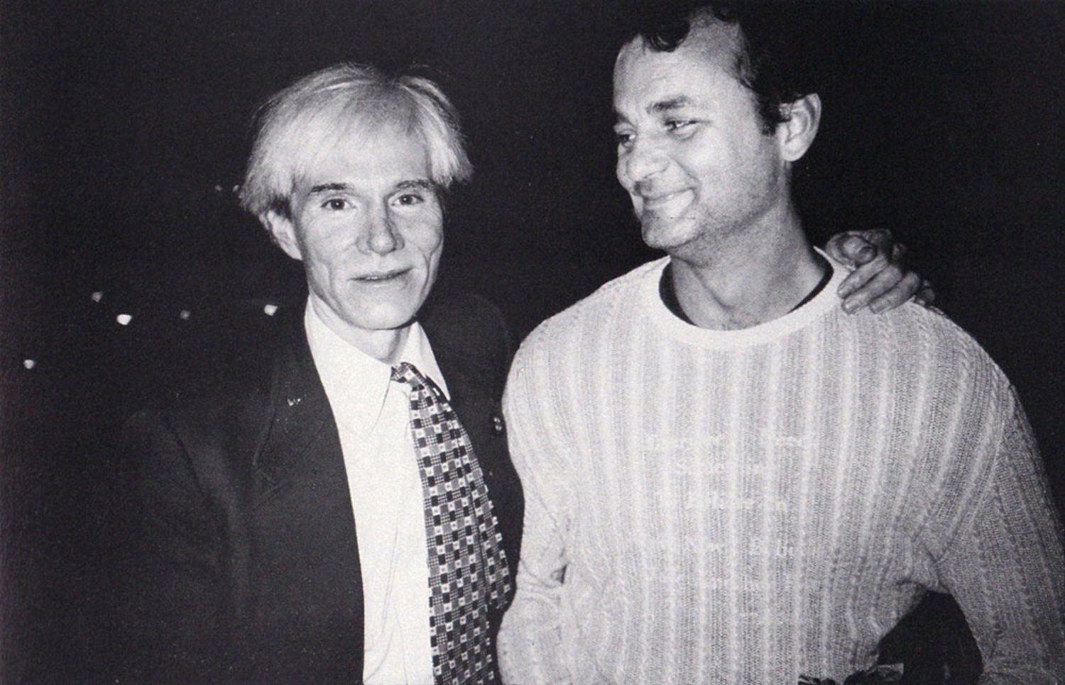 Bill Murray and Andy Warhol, 1981  |  Photo by Christopher Makos