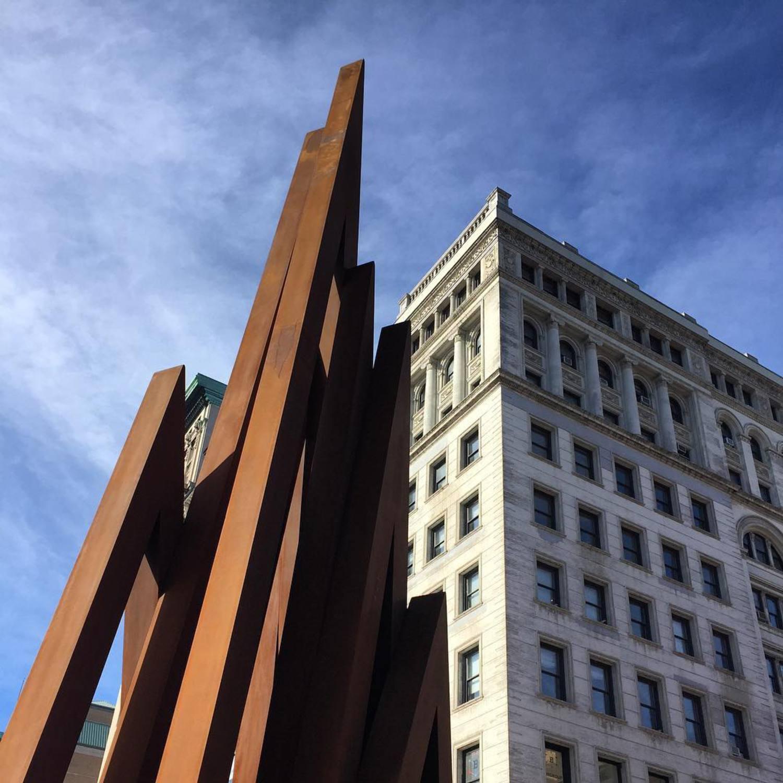 #BernarVenet's steel v. #NewYork's concrete.