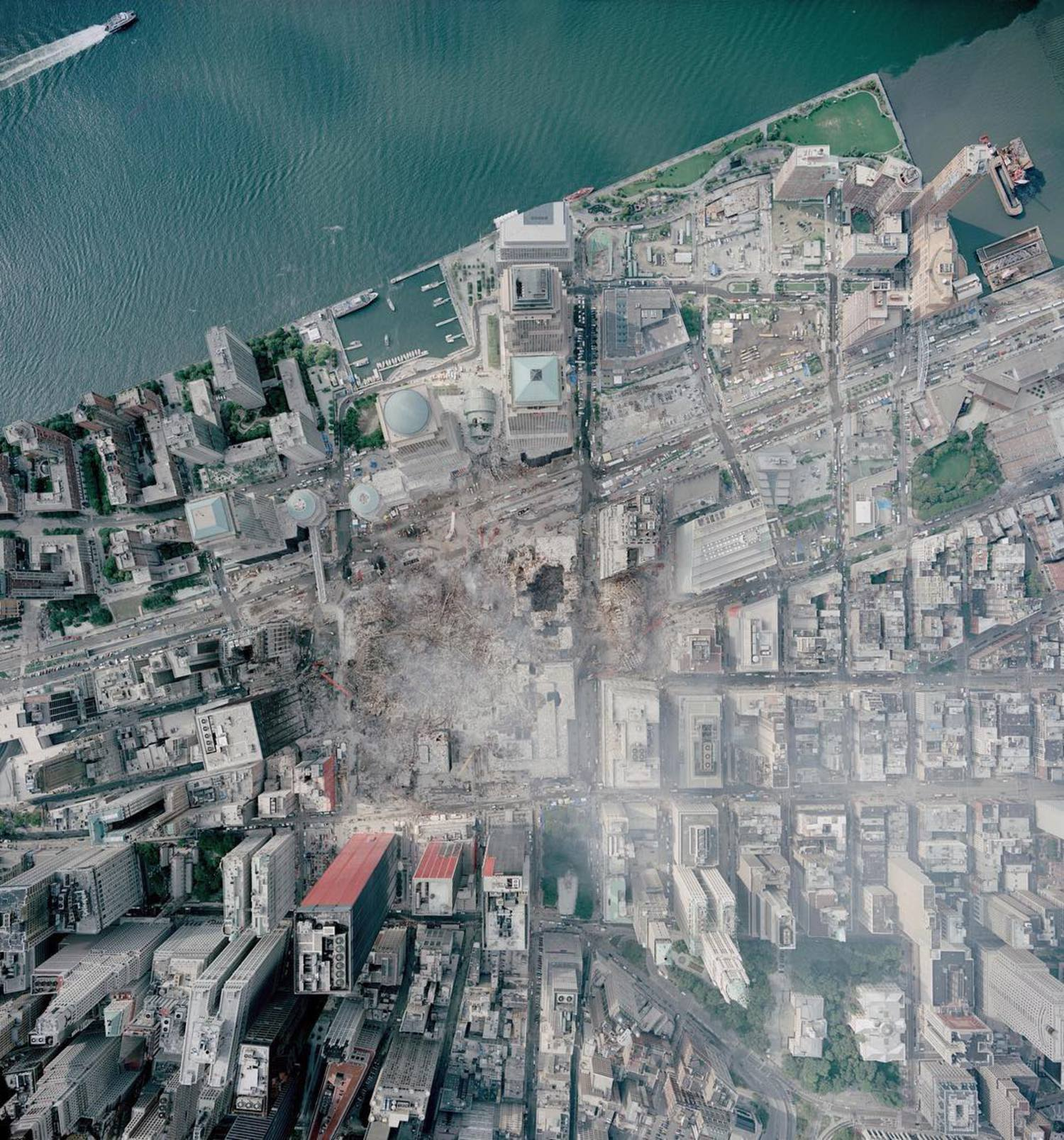 Today is the 15th anniversary of the September 11th attacks in the United States. This overview was captured above Ground Zero in downtown Manhattan on September 23, 2001. In the face of such darkness and destruction, I hope we can use this memory as an opportunity to recognize how essential it is to foster an appreciation and love for our fellow man. /// 📷: NOAA