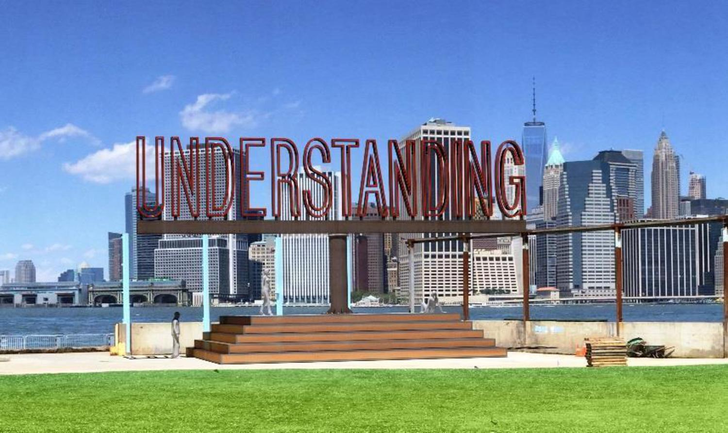 "PAF Announces Martin Creed's New Sculpture for BBP Bringing Message of ""Understanding"" to NYC This Spring"
