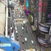Swarm of bees take up temporary residence in New York's Times Square