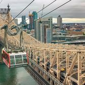 Roosevelt Island Tram and Queensboro Bridge