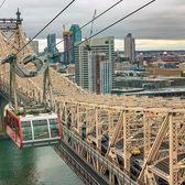 Roosevelt Island Tram and Queensboro Bridge