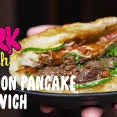 Crispy Scallion Pancake Sandwiches in NYC || Fork Yeah: Little Tong