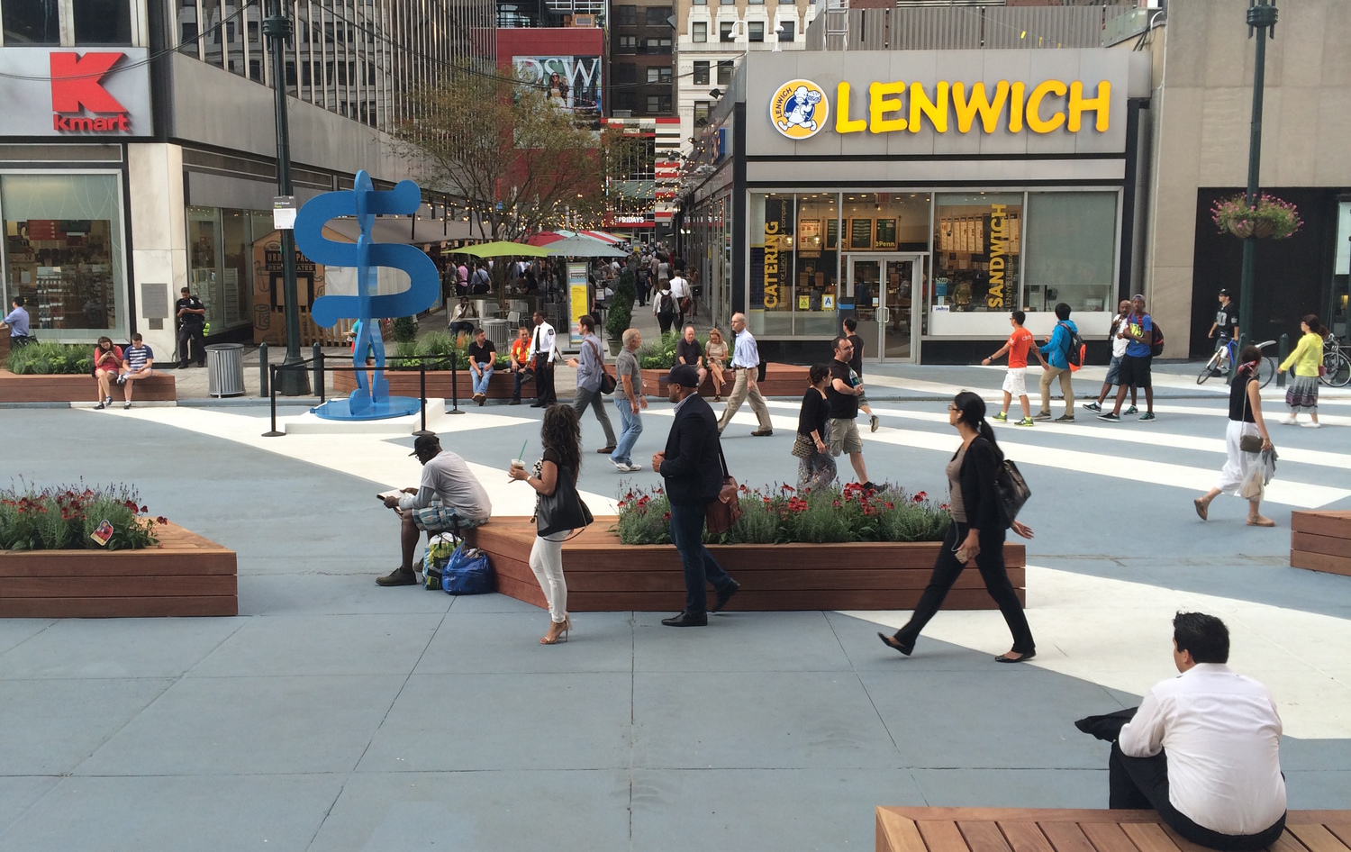 Rush hour outside Penn Station. Photo: Stephen Miller