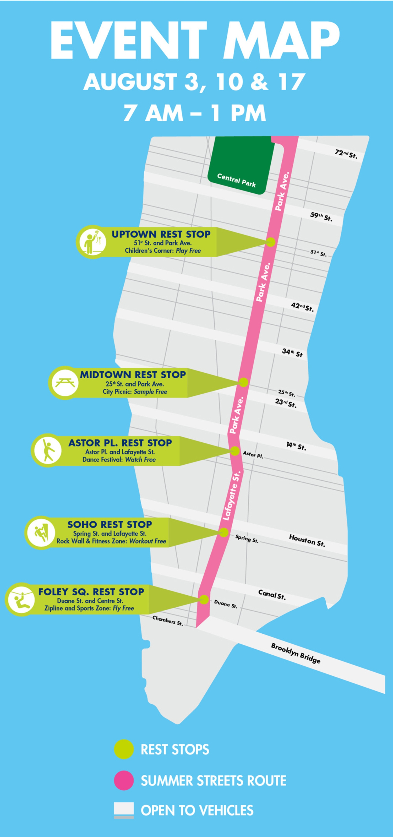 Summer Streets 2019 Map