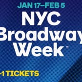 NYC Broadway Week, Winter 2017