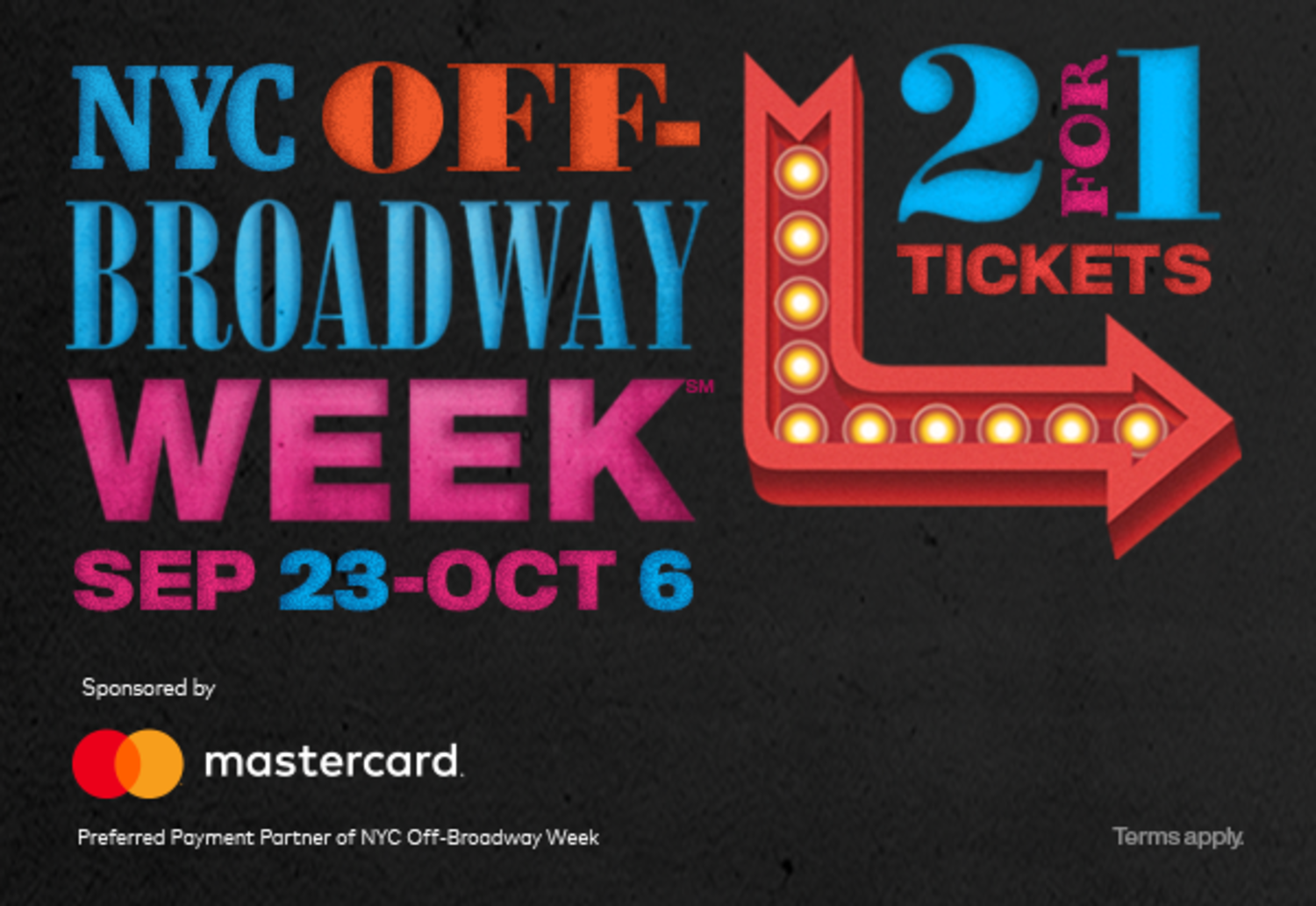 Fall 2019 Off-Broadway Week, Sep 23 - Oct 6