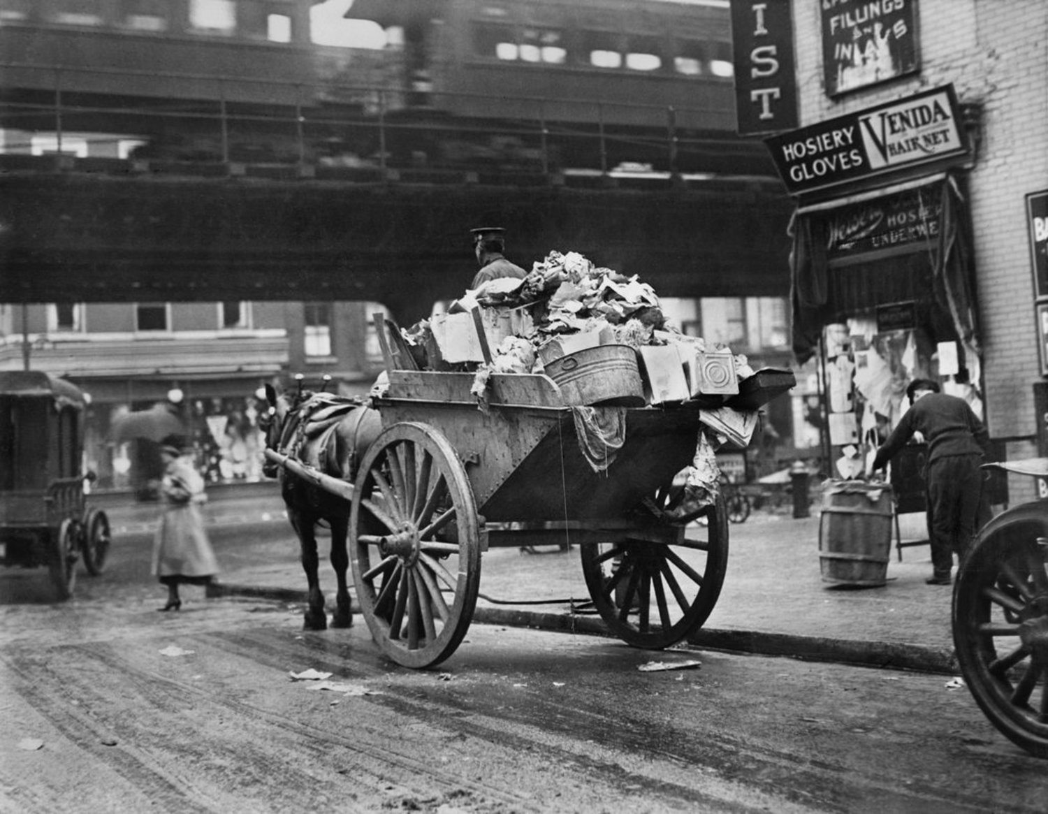 Vintage Photograph of New York City Street Cleaners Circa 1924