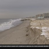 Winter Storm Washes Away Sand At Rockaway Beach