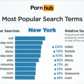 Most Popular Porn Search Terms in New York
