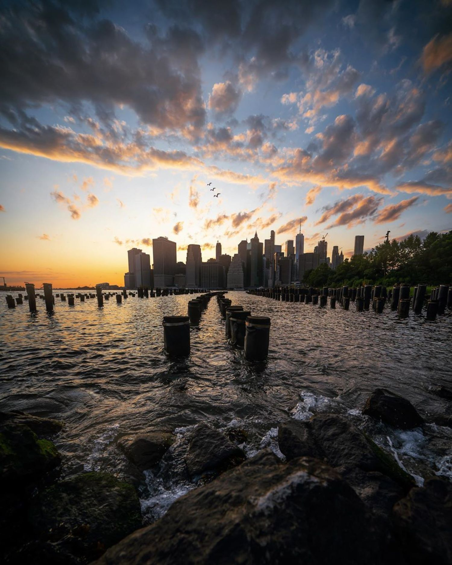 Lower Manhattan from Brooklyn Bridge Park, Brooklyn