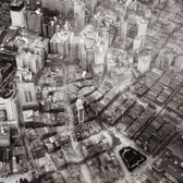 Aerial of the Financial District, taken from a balloon, 1906