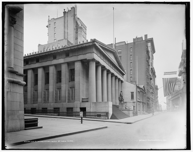 U.S. Sub-treasury [Federal Hall], Wall St., New York ca. 1900