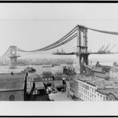 Manhattan Bridge under construction, March 23rd, 1909