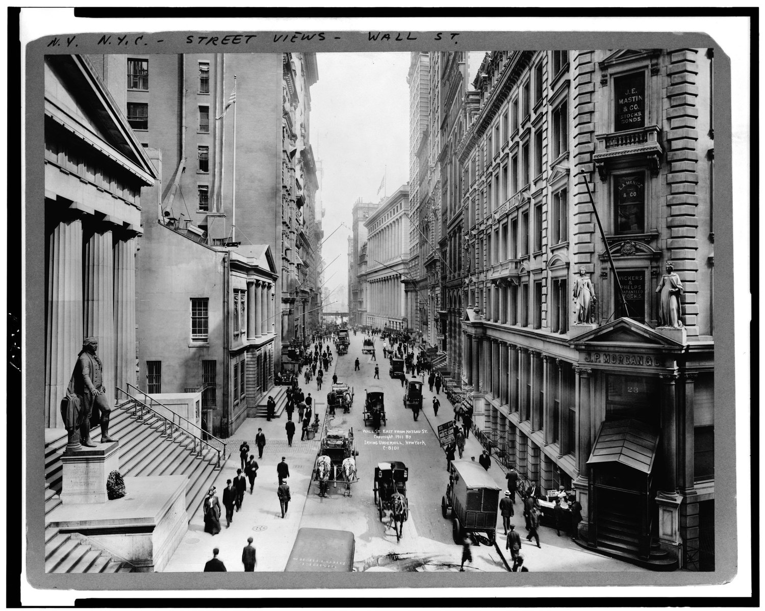 Wall St. East from Nassau St.