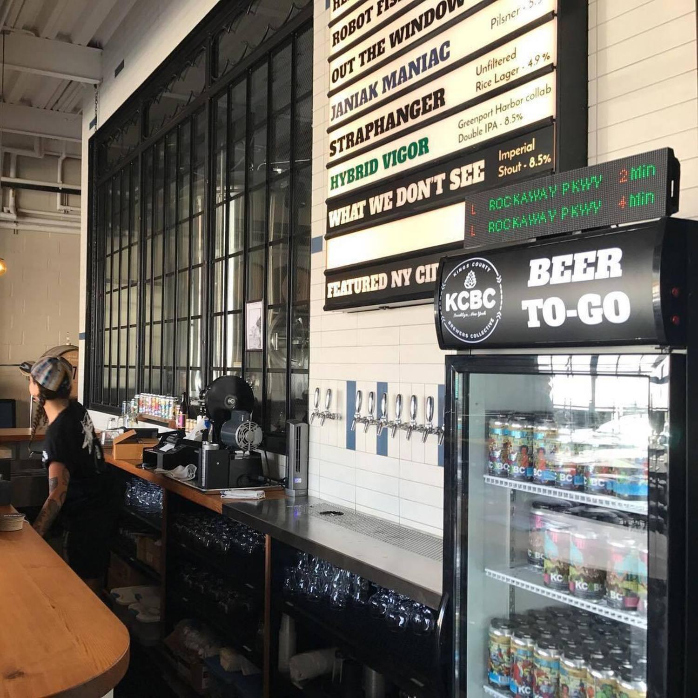 Get yo' beer-time and yo' train-time at @kcbcbeer. It's the freakin' weekend, #Bushwick #NYC!
