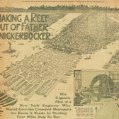 """In 1911, the civil engineer T. Kennard Thomson proposed opening up the Manhattan grid to hundreds of acres of new development by building """"two parallel coffer dams… pumping out water, and filling in the channel below the southern tip of Manhattan."""""""