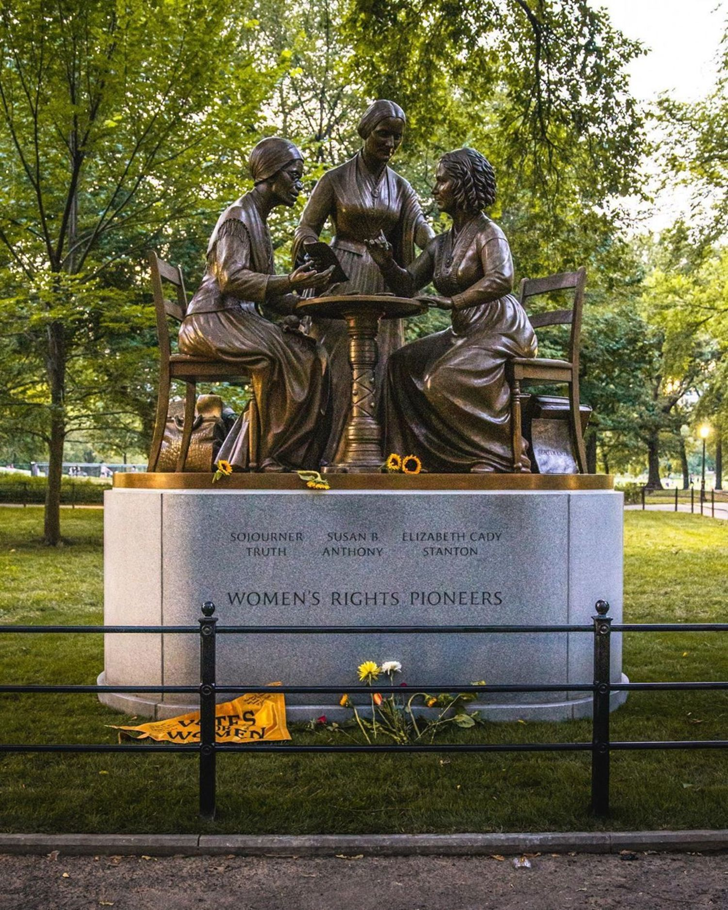 Women's Rights Pioneers, Central Park Mall, New York