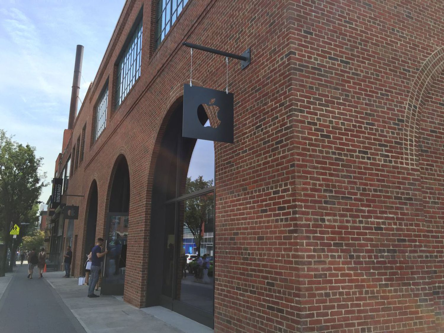 The first Brooklyn Apple Store is located in the neighborhood of Williamsburg.