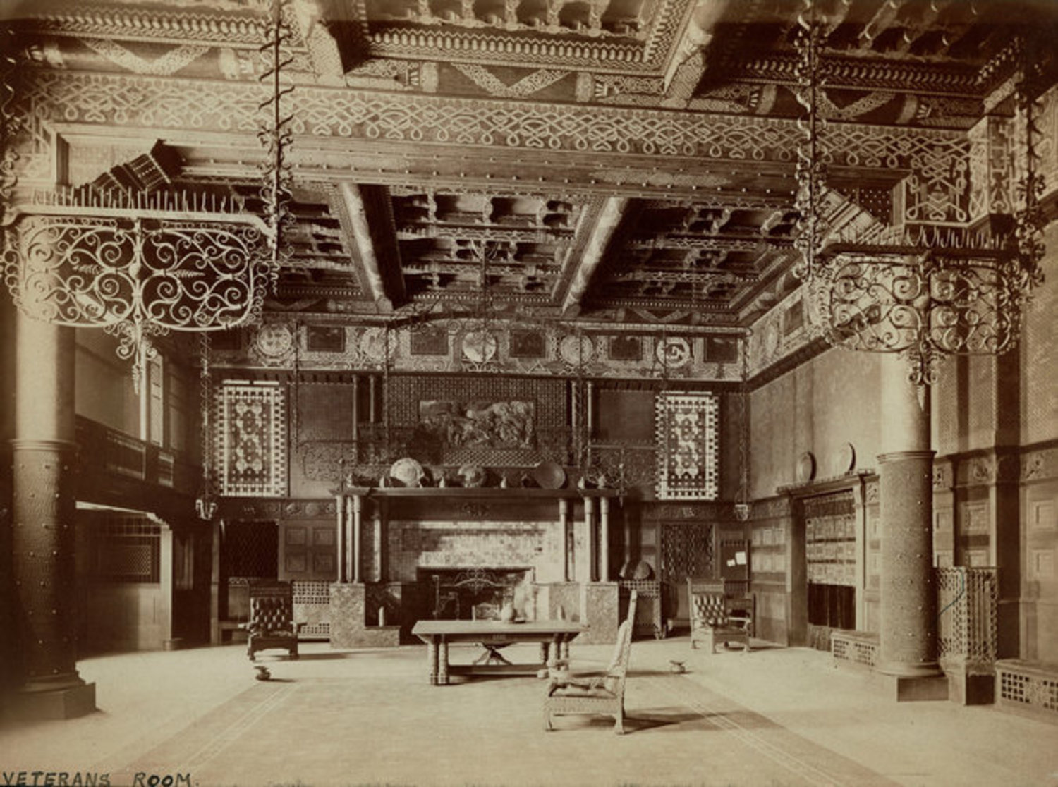 The Veterans Room as it looked in 1881. Image via Park Avenue Armory
